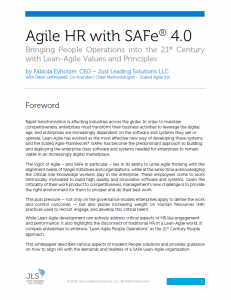 Title Page Whitepaper Agile HR with SAFe