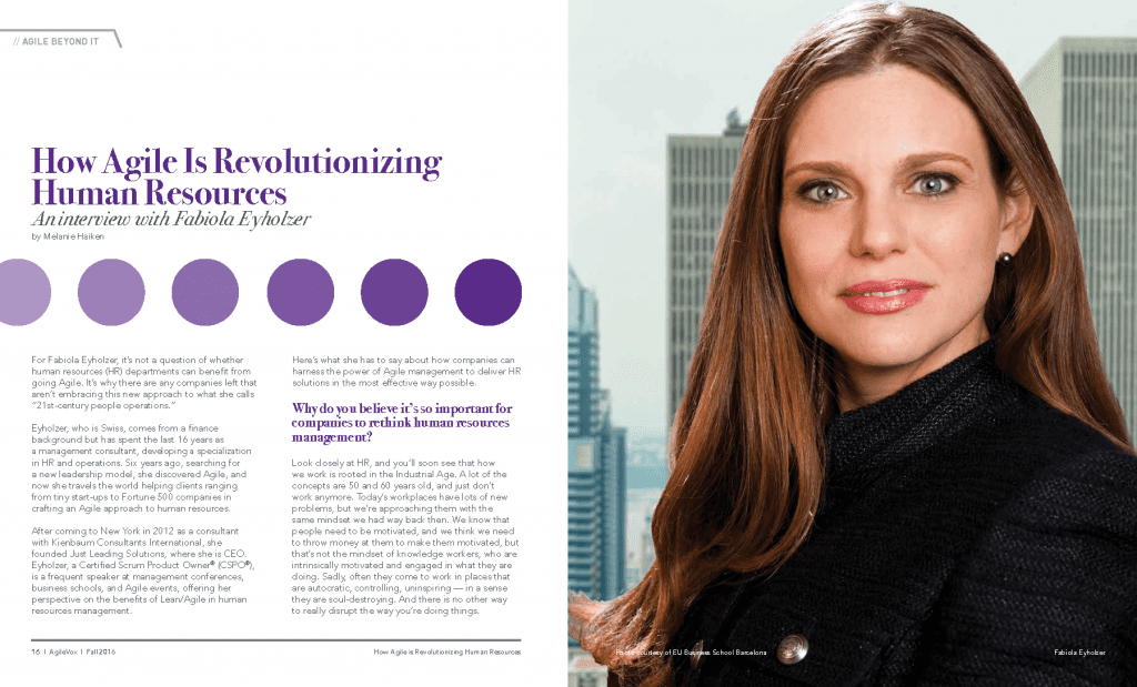 Agile VOX Magazine Interview with Fabiola Eyholzer on Agile HR